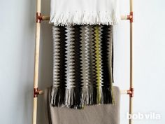 DIY Blanket Ladder - Made with Dowels and Plumbing Connectors