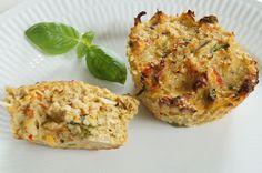 Lækre kyllingemuffins, der er nemme at lave og er perfekte i madpakken.