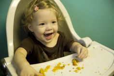happy in a high chair