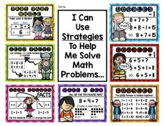 You are receiving 7 math posters for the First Grade Classroom to help students recognize the many ways to solve an addition math problem. Math Strategies Posters, Teaching Math, Teaching Ideas, Math Poster, Primary Maths, Adding And Subtracting, First Grade Classroom, Math Problems, Math Workshop