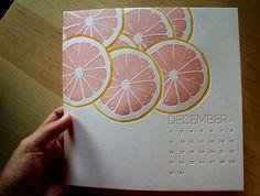 2013 Letterpress Calendar - Growth Spurt. $35.00, via Etsy.