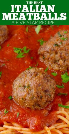 These are the BEST Italian Meatballs! My Italian grandmother's recipe, the wo. - These are the BEST Italian Meatballs! My Italian grandmother's recipe, the word perfect doesn' - Best Italian Meatball Recipe, Italian Sausage Soup, Italian Meats, Italian Dishes, Meatball Recipes, Meat Recipes, Pasta Recipes, Easy Dinner Recipes, Italian Recipes