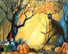 Over The Garden Wall fan art acrylic painting Tutorial for Youtube, Come and paint the Beast!! With screaming Tree