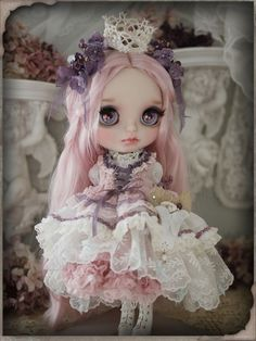 Little princess - custom blythe by Milk Tea
