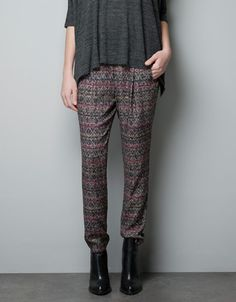 I love the subtle interest of the print on these pants