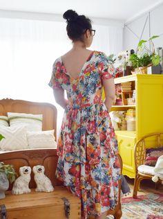 Sukienka z falbanami uszyta z Burda 05/2019 model #108 Burda Patterns, Model, Places, Dresses, Blog, Fashion, Vestidos, Moda, Lugares
