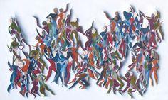 Corporeal Abstraction. Salsatanzen! Oil and watercolor on canvas by Elisabeth Kelvin www.elisabethkelvin.com