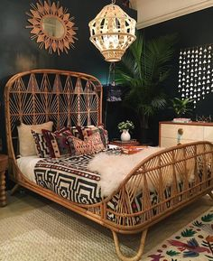 "49.9k Likes, 590 Comments - Jungalow® (@thejungalow) on Instagram: ""Next top/favorite post from 2017? This room that we created with @selamatdesigns. The bed, lamp,…"""