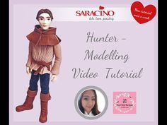 HUNTER MALE FIGURINE | Saracino Fondant Figures Tutorial, Modeling Paste, Modeling Chocolate, 3 D, Learning, Youtube, How To Make, Sculpting, Tutorials