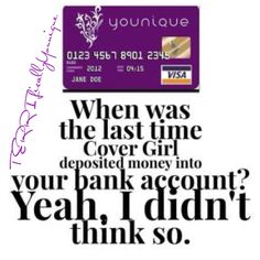 When was the last time a makeup company paid you??? Shop Younique www.makeupwithkimbrell.com
