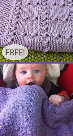 Free Knitting Pattern for Easy Holding Hands Baby Blanket -Easy baby blanket knit mostly in stockinette with blocks formed by cluster stitches that give it a cabled look. Rated easy by Ravelrers. Beginners Knitting Kit, Easy Knitting Projects, Knitting Kits, Knitting Patterns Free, Free Knitting, Free Pattern, Easy Knit Baby Blanket, Free Baby Blanket Patterns, Knitted Baby Blankets