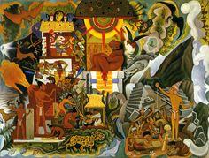 Diego Rivera, Pre-Hispanic America (book cover for Pablo Neruda's Canto General), 1950 America prehispanica,