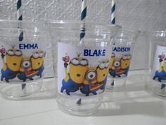 Despicable Me Minion Birthday Party Favors Treat Cups by EpicEvent, $17.50