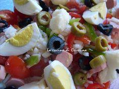 Insalata di riso ( wurstel, uova, pomodori)- Salata de orez( cremvurst, oua , rosii) Fruit Salad, Blog, Fruit Salads, Blogging