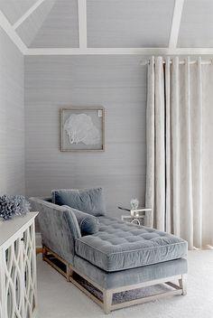 pale grey + blue bedroom...