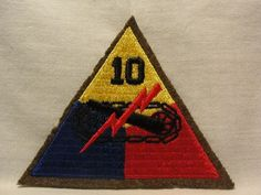 """WW2 WWII US Army 10th Armored Division Patch """"Tiger Division"""" Bastogne 
