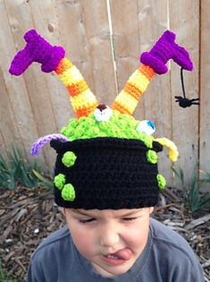 Witch's Brew hat from Snappy Tots $3.99 on Ravelry