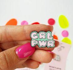 Pastel Girlpower Pin, Lapel Pin, Hard Enamel Pin, Cloisonne, Girl Gift, Flair von shopTheSassyGirl auf Etsy https://www.etsy.com/de/listing/292402837/pastel-girlpower-pin-lapel-pin-hard