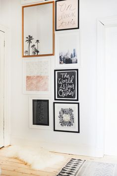 Our Hallway Gallery Wall.