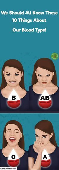 10 Things We All Need To Know About Our Blood Type!.;'