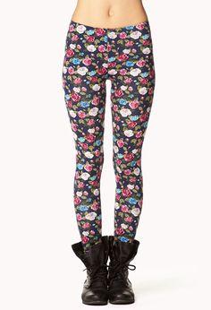 Floral Print Leggings | FOREVER21 - 2076046194