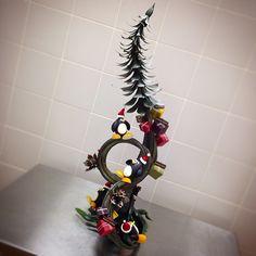 Christmas showpiece. #chocolat #chocolade #chocolate #christmas #xmas #frankhaasnoot#taipei #taipei #cakeshop #pastryshop #showpiece #hotel