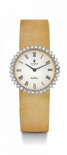 Rolex Cellin Diamant Damenuhr, ca. 60er Jahre.Gelbgold.Ref. 3810. Klassisch elegantes Gehäuse Nr. 2