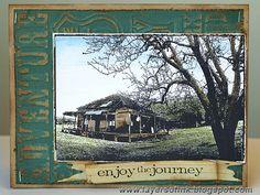 Darkroom Door 'Country Cottage' Photo Stamp DDRS003. Card created by Anna-Karin Evaldsson.