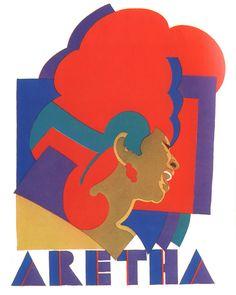 Aretha Franklin n  by Milton Glaser