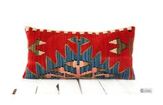 Lumbar Pillow Kilim Home Decor ANTIQUE Hand Woven by pillowcome, $44.00