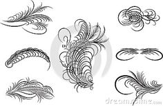 Decorative ornaments,vector line art