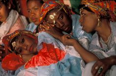Young Berber women in Morocco.