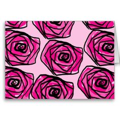Pink rose greeting card love you inside