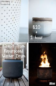 You are going to love these awesome Washer Drum Fire Pit Ideas and we have a video tutorial to step you through the process.