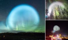 Russia has been hit by a wave of reports of a giant UFO in the sky last night with spectacular pictures of an enormous glowing ball illuminating northern Siberia.