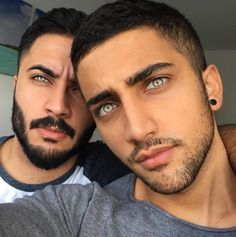 I don't know who these guys are, but their eyes are beautiful!!