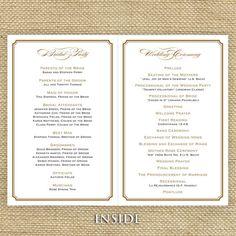 Gold Wedding Program Ceremony By EdenWeddingStudio 6600