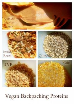 Vegan Backpacking Protein Sources - click through to see grams protein per serving