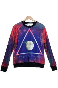 Moon Graphic Sweatshirt - OASAP.com