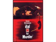 Dial M For Murder 1954 Film Vintage Poster Retro Art Print  Free US Post Low European Posta by VintagePosterPrints on Etsy