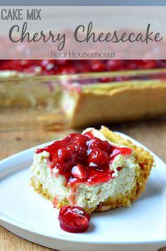 Cake Mix Cherry Cheesecake   Real Housemoms   #dessert #cheesecake