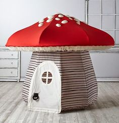 It's always playtime in Land of Nod playhouses and teepees. No kids' room or playroom is complete without a steller playhouse, teepee or tent. Roll Up Doors, Build A Playhouse, Playhouse Kits, Backyard Playhouse, Land Of Nod, Baby Store, Kid Spaces, Kidsroom, Play Houses