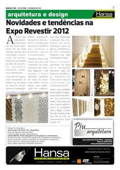 28° Publicação Jornal bom dia – Matéria - Novidades e tendencias na Expo Revestir (2012)  09-03-12
