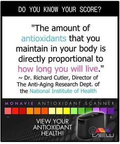 Mona Vie's patented Anti-oxidant Reader - The View