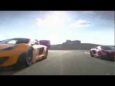 McLaren MP4-12 C GT3 and 12C coupé on track with engine sound