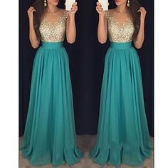 2016 Chiffon Sequins A line Prom Dress,Elegant Prom Dress,Modest Prom Dress ,Long Sequins Graduation Dress,Beading Party Dress,Evening Dress On Sale ,Dress For Prom,