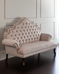 Daniella Tufted Banquette, Pink - Haute House
