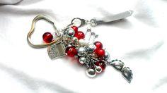 Beautiful 50 Shades - Bag Charm Keyring in Reds and Silver MMMMM Mr Grey £6.50