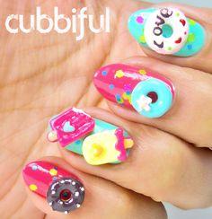 Donuts and Icecream Nail Art