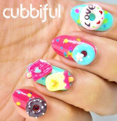 Donuts and Icecream Nail Art